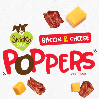 Treat Planet Snicky Snaks Bacon & Cheese Poppers