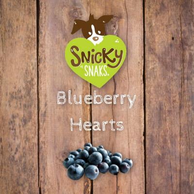 Snicky Snaks Blueberry Hearts Bulk