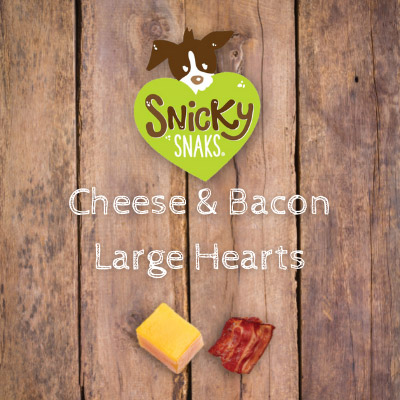 Snicky Snaks Cheese & Bacon Large Hearts Bulk