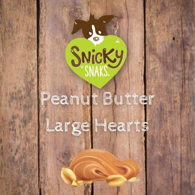 Snicky Snaks Peanut Butter Large Hearts Bulk