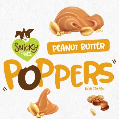 Treat Planet Snicky Snaks Peanut Butter Poppers